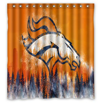 66x72 Denver Broncos Shower Curtain 72x72 inch Dragon Ball Z Bleach Fairy Tail Naruto Together Shower Curtain