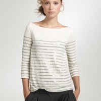 Women's Women_Feature_Assortment - back by popular demand - Stripe sequin boatneck tee - J.Crew