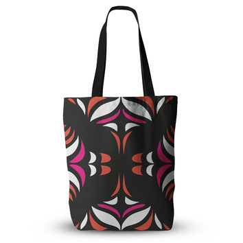"Miranda Mol ""Magenta Orange Hawaiian Retro"" Everything Tote Bag"