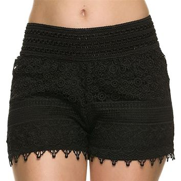 Fancyqube(TM) Women's Summer Lace Crochet Shorts Fashion High Quality, Drop Shipping