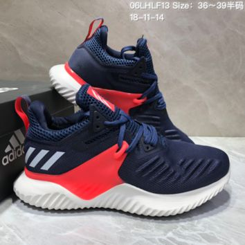 AUGUAU A460 Adidas Alphabounce Beyond 3.5 Mesh Breathable Running Shoes Blue