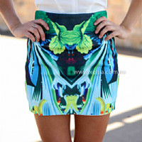 VAN GOUGH SKIRT , DRESSES, TOPS, BOTTOMS, JACKETS & JUMPERS, ACCESSORIES, 50% OFF SALE, PRE ORDER, NEW ARRIVALS, PLAYSUIT, COLOUR, GIFT VOUCHER,,SKIRTS,Blue,Green,Print,MINI Australia, Queensland, Brisbane