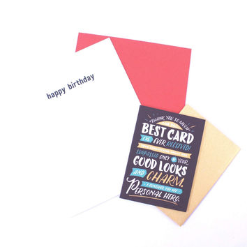 Happy Birthday Narcissist Greeting Card
