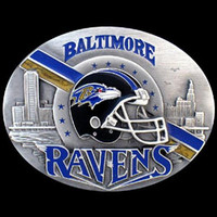 Baltimore Ravens NFL Enameled Belt Buckle