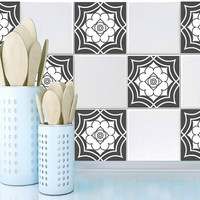 Tile decals Stickers - Tile Decals - Tile decals for Kitchen or Bathroom - PACK OF 20 - Mexico, Morocco, Portugal, Spain, Mosaic #16