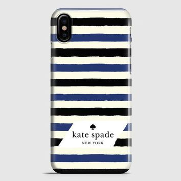 Kate Spade In Stripes iPhone X Case