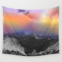 Mountain Sunrise Wall Tapestry by Jenartanddesign