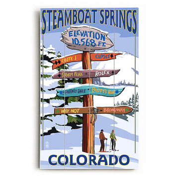Steamboat Springs Coloradao Wood Sign