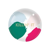 Killin' It Glass Dome Paperweight in Multicolor