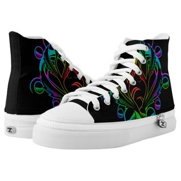 multicolored Tribal Printed Shoes