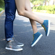 Winter new men and women's shoes and trend of Korean all-match plus velvet male high help warm couples leisure shoes