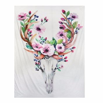 2017 Deer Tapestry Indian Mandala Feather Tapestry Flower Cactus Wall Hanging Tapestries Boho Bedspread Yoga Blanket Table Cloth