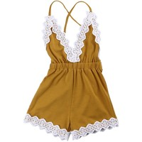 Baby Girl Romper Summer Sunsuit