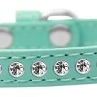 Clear Crystal Size 8 Aqua Puppy Collar