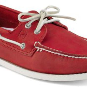 Sperry Top-Sider Authentic Original Echo 2-Eye Boat Shoe Red, Size 7M  Men's