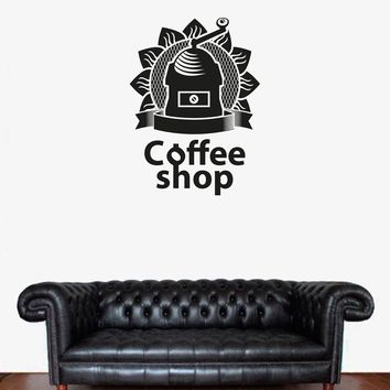 ik1729 Wall Decal Sticker coffee grinder coffee shop restaurant
