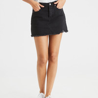 AE High-Waisted Festival Denim Skirt, Black
