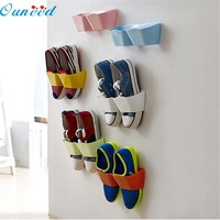Ouneed lovely pet 2015 New Creative Plastic Shoe Shelf Stand Cabinet Display Shelf Organizer Wall Rack 922