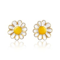 AZ Collection Garden Line - Daisy Enamel Earrings | FORZIERI