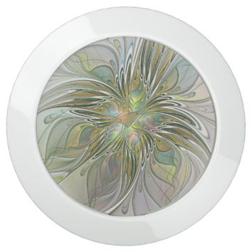 Floral Fantasy, Abstract Fractal Art USB Charging Station