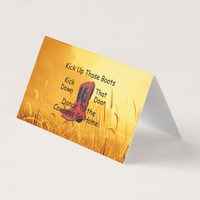 TEE Kick Up Those Boots Business Card