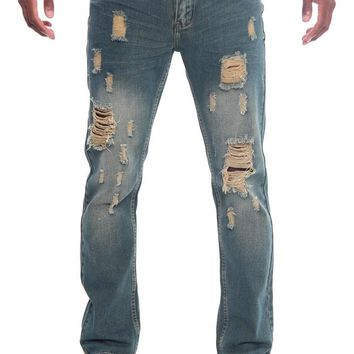 Men's Destroyed Taper Fit Denim Jeans DL103 - H7G