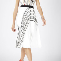 Kaitlynn Stripe-Blocked Pleated Dress - Pink