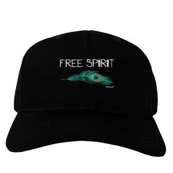 Graphic Feather Design - Free Spirit Adult Dark Baseball Cap Hat by TooLoud