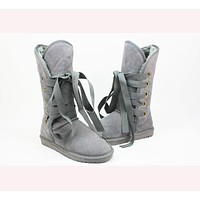 UGG Gao Tong snow boots ordinary color series light Grey