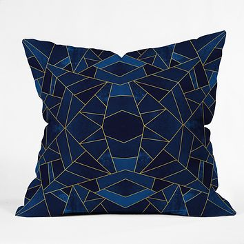 Elisabeth Fredriksson Blue Mosaic Sun Throw Pillow