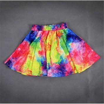 MP Multicolor Tie Dye Skirt with Pleated 050848 D0624