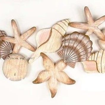 Large Seashell Cluster Wall Art