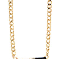 Add-Some-Lipstick-Necklace GOLDRED - GoJane.com