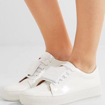 Acne Studios - Adriana plaque-detailed patent-leather sneakers