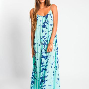 Tiare Hawaii Rio Double Strap Dress Sky/Blue Tie Dye