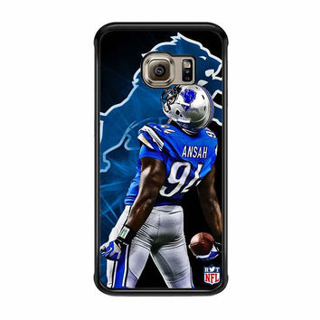 ziggy ansah detroid lion samsung galaxy s6 s6 edge cases