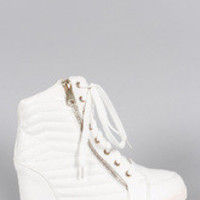 Women's Liliana Quilted High Top Wedge Sneaker