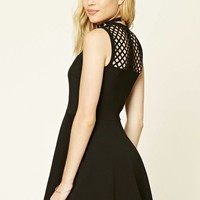 Laser-Cut Fit and Flare Dress