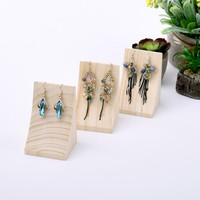 Curve Wood Drop Earrings Display Stand