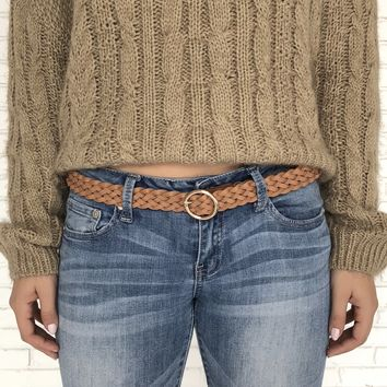 Rope & Ride Woven Belt in Camel