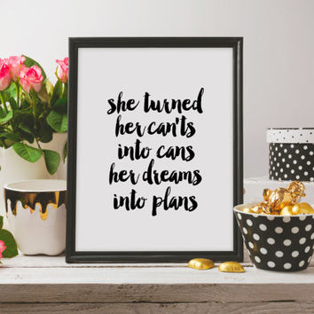 Inspirational poster Home art print Instant download Typographic print Printable quotes Wall art print Motivational quote Room poster