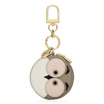 Tory Burch Owl Circle Pouch Key Fob