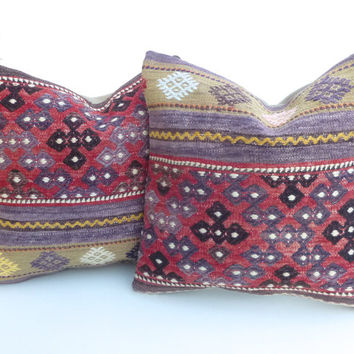 Pair of Decorative Kilim Pillow covers