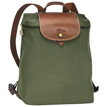 "Backpack ( khaki ) by longchamp paris "" LE PLIAGE"" 100% authentic original from PARIS FRANCE"