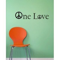 One Love Decal Bob Marley Peace decal sticker wall reggae music rasta