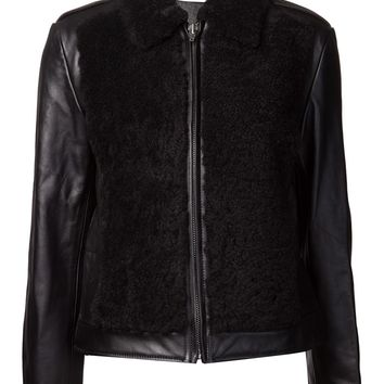 T By Alexander Wang Grizzly Shearling Moto Jacket