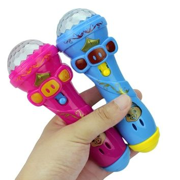 LED Projection Microphone Flash Microphone Light emitting children Toys Kids Gift