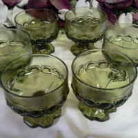 Vintage Green Dessert Dishes