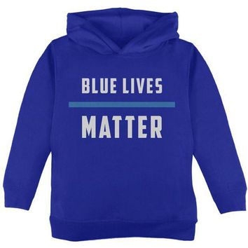 PEAPGQ9 Police Blue Lives Matter Thin Blue Line Toddler Hoodie