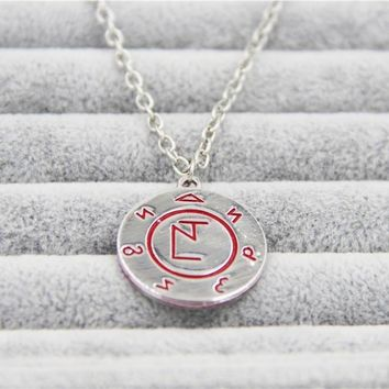 Fashion Jewelry Silver Charm Supernatural Dean Necklace For Men And Women